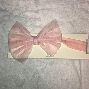 Baby GAP Girl Pink Bow Headband Age 3+